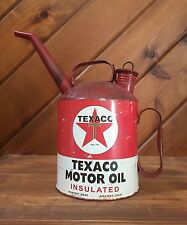 Texaco Metal Motor Oil Gas Can Rustic Station Garage Chevron Ford Chevy Mobil