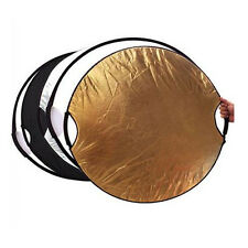 """5-in-1 43"""" New Handheld Photography Mulit Collapsible  Reflector Set 110cm"""