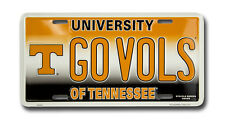 UNIVERSITY OF TENNESSEE CAR TRUCK TAG PLATE GO VOLS FOOTBALL SIGN