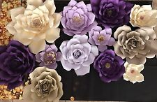 Large Paper Flowers Set Of 12 Wall Decor Party Backdrop Wedding Baby Birthday