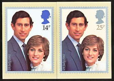 SMAA_003 UK Great Britain 1981 PHQ #53 2CARD MINT Diana Wedding Combine Shipping