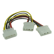 1x 4Pin Molex Male to 2x 4-Pin Molex IDE Female Power Y-Splitter Adapter Cable