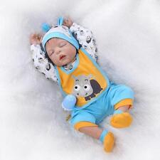 """23"""" Handmade Lifelike Reborn Newborn Baby Doll Full Silicone Vinyl Bath Boy Toy"""