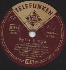 Sylvia Dahl und Orchester Sigi Stenford : Bella Bimba + Auf Jamaica schenken Abe