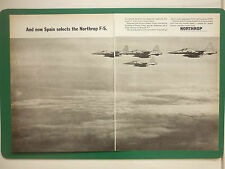 4/1965 PUB NORTHROP F-5 USAF TACTICAL FIGHTER SPANISH AIR FORCE ORIGINAL ADVERT