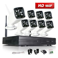 8CH NVR 1280*960P HD Outdoor CCTV Kit Wireless Home Security IP Camera System A