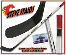 STEVE STAIOS Game Used Stick CALGARY FLAMES - BAUER X:60 w/COA