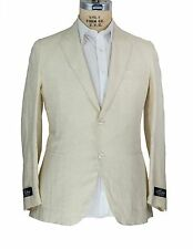NWT Belvest Pure Linen Suit 40 (50 7 R) Tailored in Italy (Hermes)