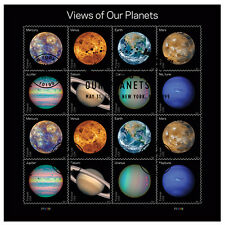 USPS New Views of Our Planets Cancelled Full Pane