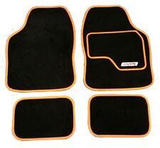 Full Black Carpet Car Floor Mats With Orange Boarder For Fiat 500 Brava Bravo St