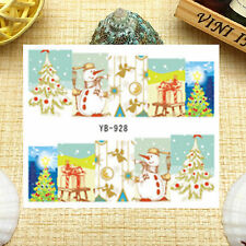 Nail Art Manicure Water Transfer Decal Stickers Christmas Santa Claus YB928