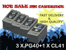 3x PG40 Black 1x CL41 color ink Cartridges for Canon printer