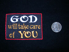 """GOD WILL TAKE CARE OF YOU"" CHRISTIANITY EMBROIDERED IRON ON PATCH"