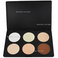 6 Colour Contour Skin Tone Concealer Makeup Neutral Skin Powder Palette 616