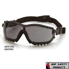 SAFETY GLASS / GOGGLE HYBRID SMOKE GRAY ANTI-FOG LENS PYRAMEX V2G GB1820ST