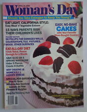 WOMAN'S DAY magazine A30 1985 NO BAKE CAKE-Pullout 58 Home Fixes-DRIVING STRESS