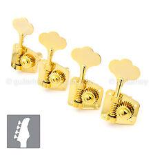 Gotoh GB29 Machine Head Set 4-Strings Bass L4 in line w/ screws - 1:26 - GOLD