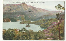 Scotland - Loch Katrine, The Otter Island and Ben A'an - Postcard Franked 1935