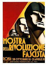 ART PRINT POSTER Pubblicità evento mostra figura FACCIA RIVOLUZIONE FASCISTA Italia nofl1636