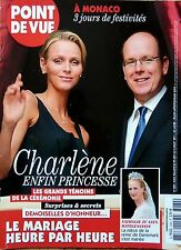 POINT DE VUE 2011: CHARLENE DE MONACO-MARIAGE GRACE KELLY et RAINIER_CAMBODGE