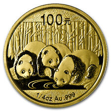 2013 1/4 oz Gold Chinese Panda Coin - Sealed in Plastic - SKU #72453