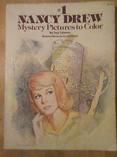 Vintage Nancy Drew Mystery Pictures to Color Coloring Book 1977 Carolyn Keen