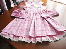 Bodyline Sweet Lolita Pink Tartan Rose Button JSK Dress Child Size 140 NWT