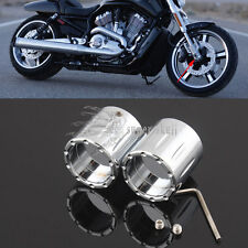 Chrome Edge Deep Cut Front Axle Nut Cover for Harley Softail Sportster Glide