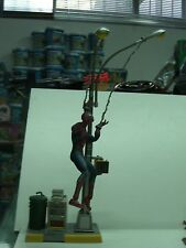 2002 WEB SWINGING SPIDER-MAN Movie Figure WITH LAMP POST TOY BIZ
