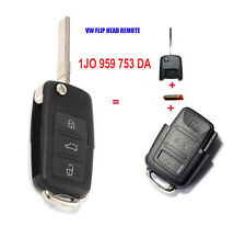 Keyless Entry Flip Remote Key Control 3 Button for VW Volkswagen 1J0 959 753 DA