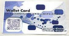 "Purple Bitcoin Card PVC Plastic ""Paper"" Wallet Durable Cold Storage for Bitcoins"