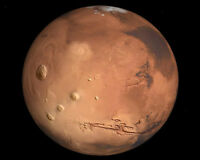 View from the NASA Hubble Space Telescope of the Planet Mars 8x10 Photo
