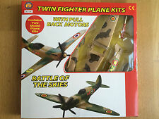 Twin fighter Plane Kits with Pull Back Motors new Airplane Model Kit toy fix