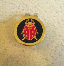 1 only BLACK & RED BEETLE  GOLF BALL MARKER WITH NICE  HAT CLIP