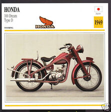 1949 Honda 100cc Dream Type D Japan Bike Motorcycle Photo Spec Info Stat Card
