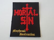 MORTAL SIN MAYHEMIC DESTRUCTION EMBROIDERED PATCH