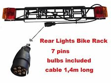 Light boards Bike Rack, Cycle Carrier, Car Trailer 7 pins, cable 140cm long