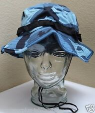 US BLUE CAMOUFLAGE JUNGLE BOONIE HAT size XL 7 1/2 59.7cm 23 1/2in each  H7461