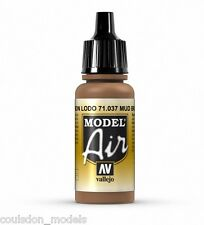 Vallejo model air mud brown 71.037 - 17ml acrylique aérographe prêt peinture