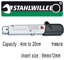 Stahlwille 730/2 4-20nm Torque Wrench with 9x12mm insert tool mount - 50180002