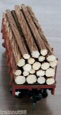 HO Very Detailed- 20 Pc- MIX SET OF Real Wood Logs ONLY~ For 34' Flat Car