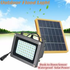 Impermeable 54LED Solar Bombilla Dusk-to-Dawn Sensor Outdoor Security Floodlight