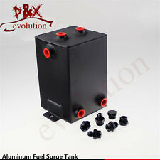 3L Universal aluminum Sandblasting Tank Swirl Pot Fuel Surge Tank 3 Litre black