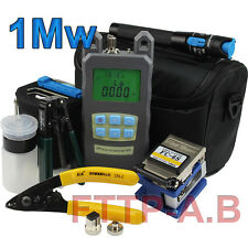 Fiber Optic FTTH Tool Kit Optical Power Meter FC-6S Fiber Cleaver other kits 1Mw