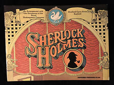 VINTAGE THEATRE PROGRAM-SHERLOCK HOLMES-LEONARD NIMOY-ROYAL SHAKESPEARE CO.