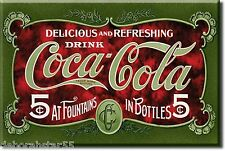 COCA COLA Magnet Coke Vintage Retro Fridge Magnetic Mini Tin Sign MAGNET