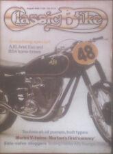 CLASSIC BIKE.August 1985.Triumph TRW500/Harley-Davidson KR/AJS/Ariel/BSA B33