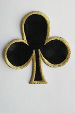 #2697 Black Clubs Suit Playing Cards Casino Poker Card Embroidery Applique Patch