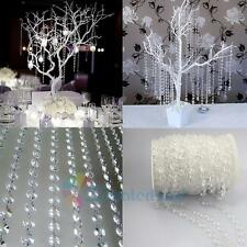 33FT Luxury Glass Crystal Bead Curtain Home Living Room Bedroom Wedding Decor