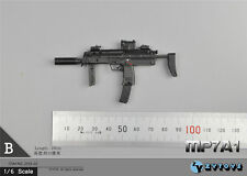 "1/6 Scale Weapon 4D Model MP7A1 Rifle Gun Model in Black for 12"" Action Figure"